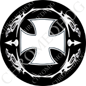 Premium Round Decal - Iron Cross - OWB