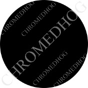 Premium Round Decal - Solid - Black