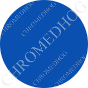 Premium Round Decal - Solid - Blue