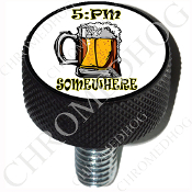Harley Custom Seat Bolt - L KN Black Billet - Beer Mug - 5:PM