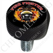 Harley Custom Seat Bolt - L KN Black Billet - Fire Fighter - BT