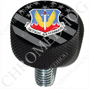 Harley Custom Seat Bolt - L KN Black Billet - USAF TAC - G Flag