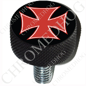 Harley Custom Seat Bolt - L KN Black Billet - Iron Cross - RB