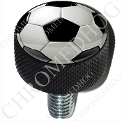 Harley Custom Seat Bolt - L KN Black Billet - Soccer Ball - S