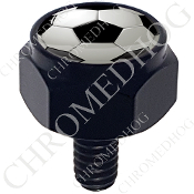 Harley Custom Seat Bolt - Hex Black Billet - Soccer Ball S
