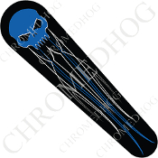 08-Up FLHX Street Glide Dash Insert Decal - Skull Evil Blue PS1B