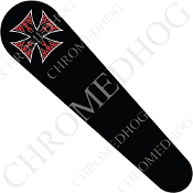08-Up FLHX Street Glide Dash Insert Decal - Iron Cross RFBB