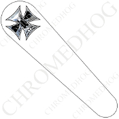 08-Up FLHX Street Glide Dash Insert Decal - Iron Cross CSW
