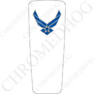 08-15 Ultra & Electra Glide Dash Insert - USAF Air Force White