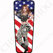 08-15 Ultra & Electra Glide Dash Insert - Pin Up Army Flag