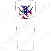 08-15 Ultra & Electra Glide Dash Insert - Iron Cross Flag W