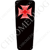 08-15 Ultra & Electra Glide Dash Insert - Iron Cross WFRB