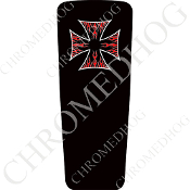 08-15 Ultra & Electra Glide Dash Insert - Iron Cross RFBB