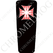 08-15 Ultra & Electra Glide Dash Insert - Iron Cross RFWB