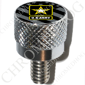 Harley Custom Seat Bolt - S KN Chrome Billet - US Army L G Flag
