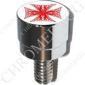 Harley Custom Seat Bolt - S SM Chrome Billet - Iron Cross WFRW