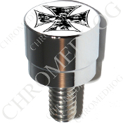 Harley Custom Seat Bolt - S SM Chrome Billet - Iron Cross SPW