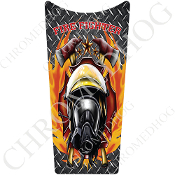 89-07 Road & Electra Glide Dash Insert Decal - Fire Fighter DP F